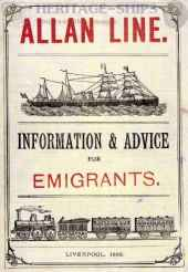 Allan Line advice to emigrants 1883