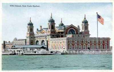 Emigration processing center at Ellis Island