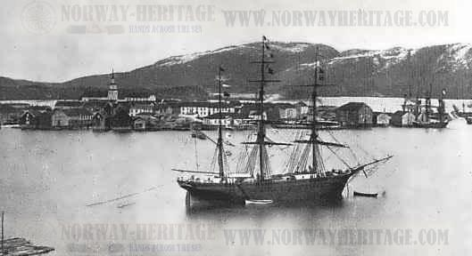 The New Brunswick at the harbor in Namsos
