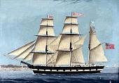 Bark Bergen, Norwegian emigrant ship