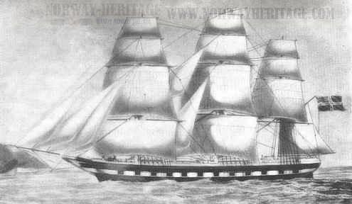Norwegian emigrant ship Victor Emmanuel