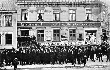 emigrants gathered outside the office of my great-great-grandfather Richard Solem on the day of departure. He was the head agent for the Allan & State Line in the northern regions of Norway and parts of Sweden