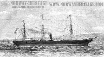 The S/S Ottawa departing 1866