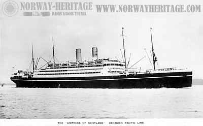 S/S Empress of Scotland (1), Canadian Pacific Line