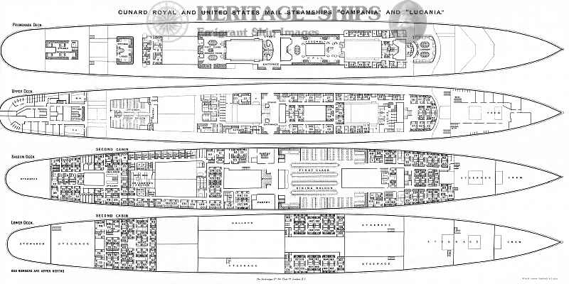 Campania And Lucania Deck Plans Ship Images