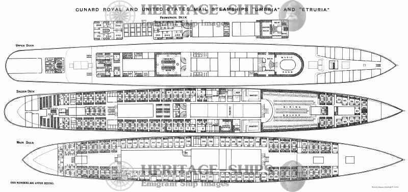 Etruria And Umbria Deck Plans Ship Images