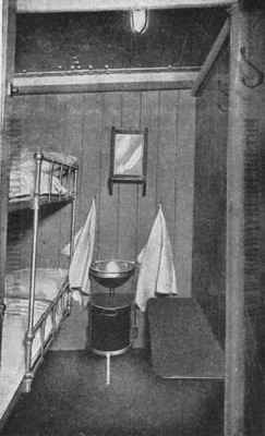 2 berth stateroom for steerage (3rd class) passengers on the Cunard Line steamships Saxonia and Ivernia