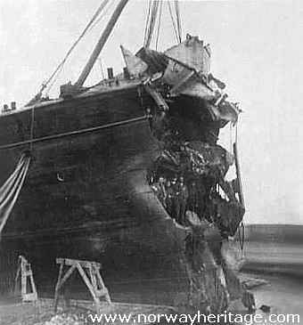 S/S Arizona bow after the collission