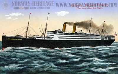 Hamburg America Line steamship Kaiserin Auguste Victoria