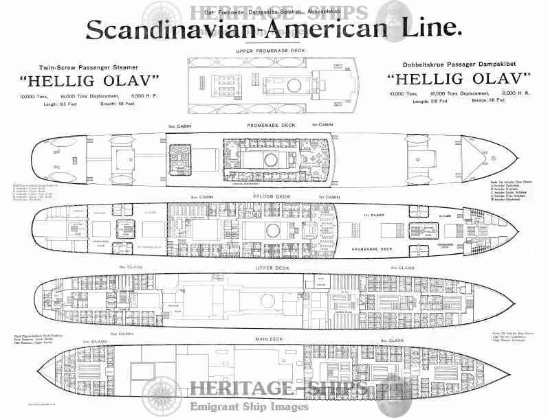 Hellig Olav Scandinavian America Line