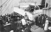 Passengers boarding the steamship