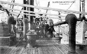Promenade deck of the S/S United States