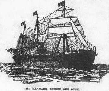 S/S Danmark before the sinking
