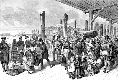 Arrival Of Immigrants At Castle Garden Ship Images