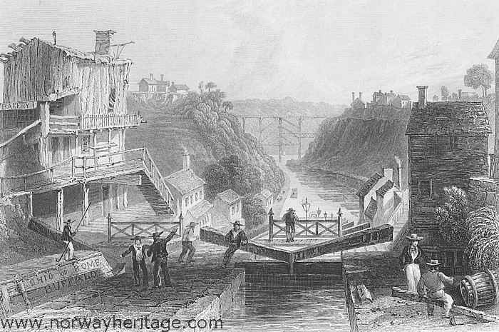 Lockport, Erie Canal, 1838, about 30 miles from Lake Erie