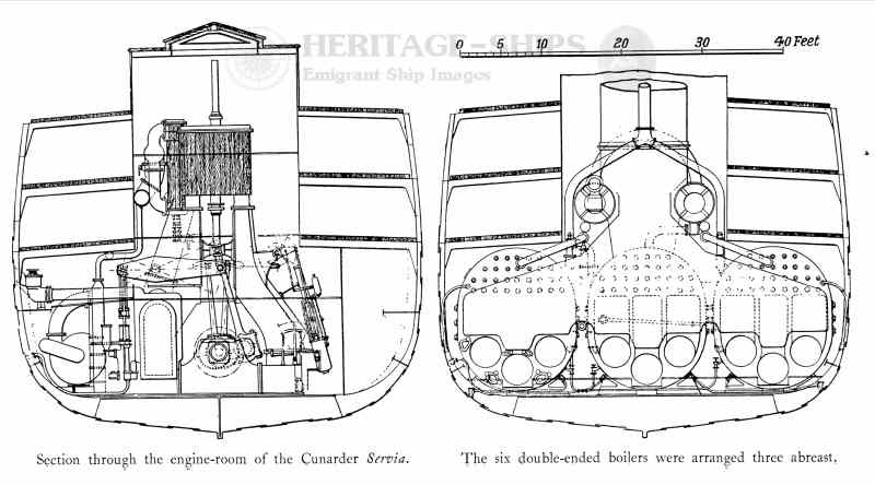 Engines of the S/S Servia