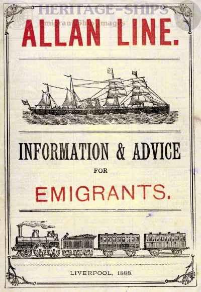 Advert, Allan Line, 1883