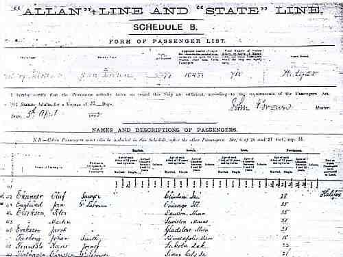 steam ship passenger list 1893